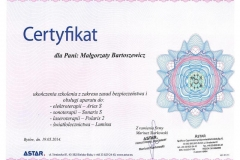 Certyfikat Fizykoterapia
