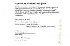 Certyfikat Neuromobilizacje