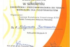 Certyfikat Zagrożenia I Przeciwwskazania Do Terapii Manualne