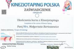Certyfikat Kinesiotaping